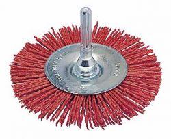 Szczotka tarczowa z drutu, 100 × 1 mm, szczecina nylonowa 100 mm, 1 mm, 8 mm