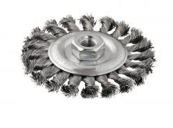 Szczotka tarczowa z drutu plecionego 115 stalowa 115 mm, 0,5 mm, 12 mm, M14
