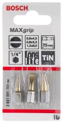 3-częściowy zestaw końcówek wkręcających Max Grip (PH) PH1; PH2; PH3; 25 mm
