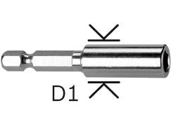 Uchwyty uniwersalne 1/4``, 57 mm, 11 mm
