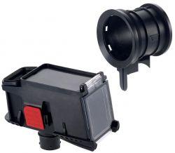 Zestaw z adapterem wiertniczym do koronek i pojemnikiem na pył -