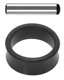 Zestaw ustalający: trzpień ustalający i pierścień gumowy 5 mm, 25 mm