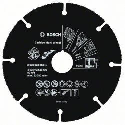 Tarcza tnąca Carbide Multi Wheel 125 mm 125 mm; 1 mm; 22,23 mm