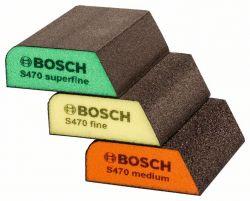3-częściowy zestaw gąbek szlifierskich 69 x 97 x 26 mm, M, F, SF