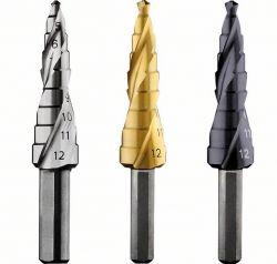 Wiertła stopniowe HSS-AlTiN 4 - 12 mm, 6,0 mm, 66,5 mm