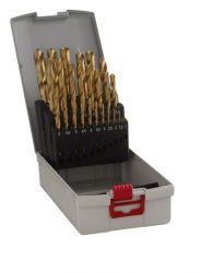 25-częściowy zestaw wierteł do metalu HSS-TiN ProBox (powłoka tytanowa) 1-13 mm