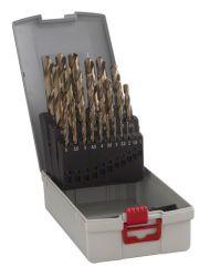 25-częściowy zestaw wierteł do metalu HSS-Co ProBox, DIN 338 (stop kobaltowy) 1-13 mm