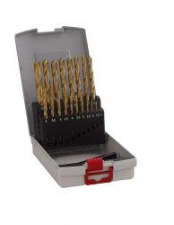 19-częściowy zestaw wierteł do metalu HSS-TiN ProBox (powłoka tytanowa) 1-10 mm