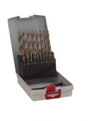 19-częściowy zestaw wierteł do metalu HSS-Co ProBox, DIN 338 (stop kobaltowy) 1-10 mm
