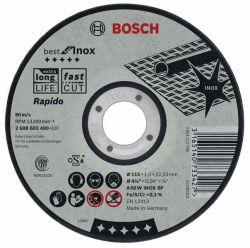 Tarcza tnąca wygięta Best for Inox – Rapido A 60 W INOX BF, 115 mm, 1,0 mm