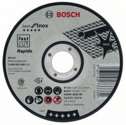 Tarcza tnąca prosta Best for Inox – Rapido A 60 W INOX BF, 115 mm, 0,8 mm