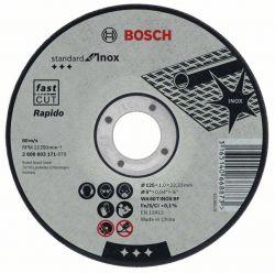 Tarcza tnąca prosta Standard for Inox – Rapido WA 60 T BF, 115 mm, 22,23 mm, 1,0 mm