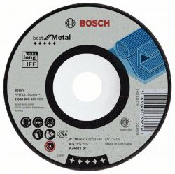 Tarcza ścierna wygięta Best for Metal A 2430 T BF, 125 mm, 7,0 mm