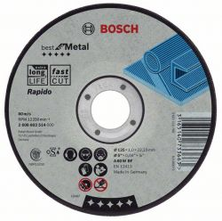Tarcza tnąca wygięta Best for Metal – Rapido A 46 V BF, 180 mm, 1,6 mm