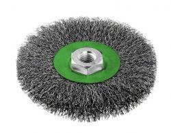 Szczotka tarczowa z drutu falistego 115 nierdzewna 115 mm, 0,3 mm, M14