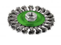 Szczotka tarczowa z drutu plecionego 115 nierdzewna 115 mm, 0,5 mm, M14
