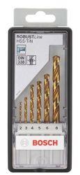 6-częściowy zestaw wierteł do metalu HSS-TiN Robust Line, 135° 2; 3; 4; 5; 6; 8 mm, 135°