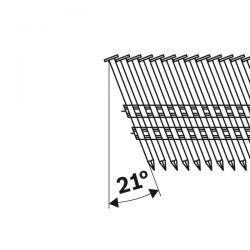 Gwóźdź łączony papierem, łeb okrągły, SN21RK 60 2,8 mm, 60 mm, metaliczne, gładkie