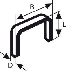 Zszywka z cienkiego drutu, typ 53, nierdzewna Typ 53; L = 8 mm