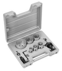 9-częściowy zestaw pił otwornic HSS-Bimetal 22; 29; 35; 44; 51; 64 mm