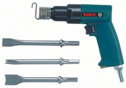 Pneumatic chisel hammer with case and chisel set