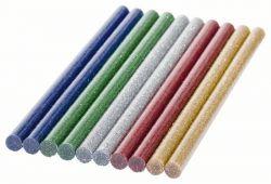 Klej topliwy Glitter 7 mm 10 szt., brokatowy