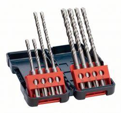 8-częściowy zestaw wierteł do młotów SDS plus-3, kaseta Tough Box 6 x 110 (2x); 6 x 160 (2x); 8 x 160 (2x); 10 x 160 (2x) mm