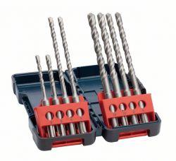 8-częściowy zestaw wierteł do młotów SDS plus-3, kaseta Tough Box 5 x 110 (1x); 6 x 110 (1x); 6 x 160 (2x) mm; 8 x 160 (2x); 10 x 160 (2x)