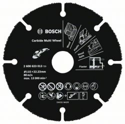 Tarcza tnąca Carbide Multi Wheel 115 mm 115mm; 1 mm; 22,23 mm