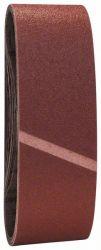 9-częściowy zestaw taśm szlifierskich, 75 x 457 mm, ziarnistość 60, 80, 100