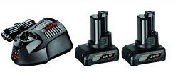 Zestaw startowy Zestaw startowy: 2 akumulatory GBA 12V 6.0Ah + GAL 1230 CV