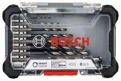 8-częściowy zestaw wierteł HSS Impact Control