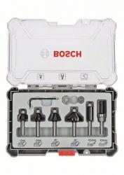 Zestaw frezów do wykańczania i wyrównywania, trzpień 6 mm, 6 szt. 6-piece Trim and Edging Router Bit Set.