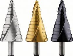 Wiertło stopniowe, stal szybkotnąca HSS-TiN 6 - 37 mm, 10,0 mm, 93 mm