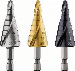Wiertło stopniowe, stal szybkotnąca HSS-TiN 4 - 20 mm, 70,5 mm