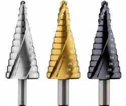 Wiertło stopniowe, stal szybkotnąca HSS-TiN 6 - 30 mm, 10,0 mm, 93,5 mm