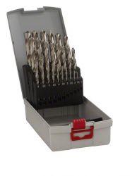 25-częściowy zestaw wierteł do metalu HSS-G ProBox, DIN 338, 135° 1-13 mm