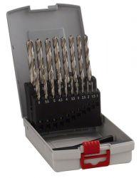 19-częściowy zestaw wierteł do metalu HSS-G ProBox, DIN 338, 135° 1-10 mm