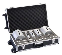 5-częściowy zestaw diamentowych koronek wiertniczych G 1/2`` 38; 52; 65; 117; 127 mm, 150 mm, 7 mm