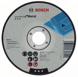 Tarcza tnąca wygięta Standard for Metal A 30 S BF, 180 mm, 22,23 mm, 3,0 mm