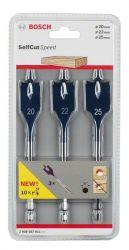 3-częściowy zestaw wierteł płaskich Self Cut Speed 20,0; 22,0; 25,0 mm