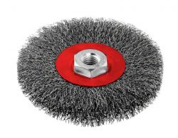 Szczotka tarczowa z drutu falistego 115 stalowa 115 mm, 0,3 mm, M14