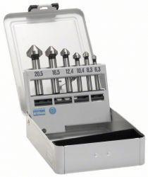 6-częściowy zestaw pogłębiaczy stożkowych 45; 63 mm / 5-10 mm / 6,3; 8,3; 10,4; 12,4; 16,5; 20,5 mm