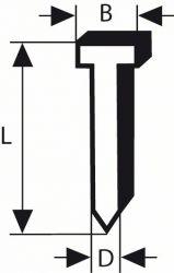 Sztyft, łeb wpuszczany, SK64 20G 57 mm, cynkowane