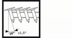 Gwóźdź do papy, CN 45-15 HG 25 mm, cynkowane ogniowo