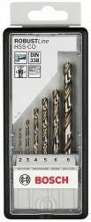 6-częściowy zestaw wierteł do metalu Robust Line HSS-Co 2; 3; 4; 5; 6; 8 mm