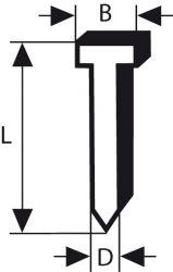 Sztyft, łeb wpuszczany, 64-34 50 NR 50 mm, stal szlachetna
