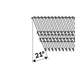 Gwóźdź łączony papierem, łeb okrągły, SN21RK 90RG 3,1 mm, 90 mm, cynkowane, rowkowane