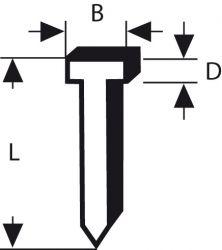 Gwóźdź, typ 47 1,8 x 1,27 x 19 mm